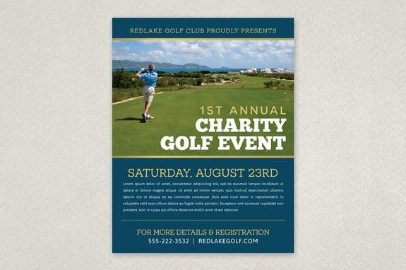 Charity Golf Event Flyer Template - The organized, clean layout is ...