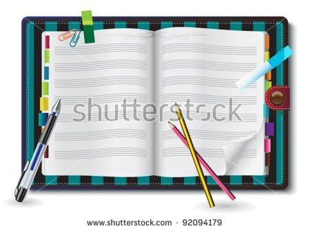 Set Spiral Notebooks Colored Tabs Lined Stock Vector 78134059 ...