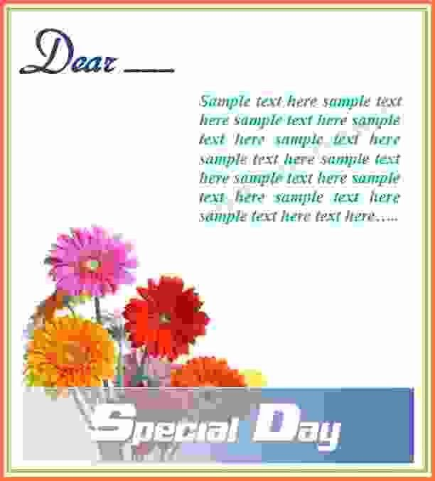 greeting card template word - Sales Report Template
