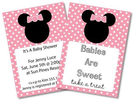 FREE Mickey Mouse Baby Shower Invitations & clipart - Minnie Mouse ...