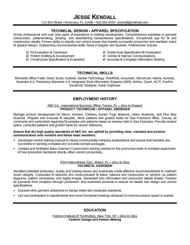Fashion Design Resume Template | haadyaooverbayresort.com