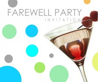 Farewell Party Invitation For You | THEWHIPPER.COM