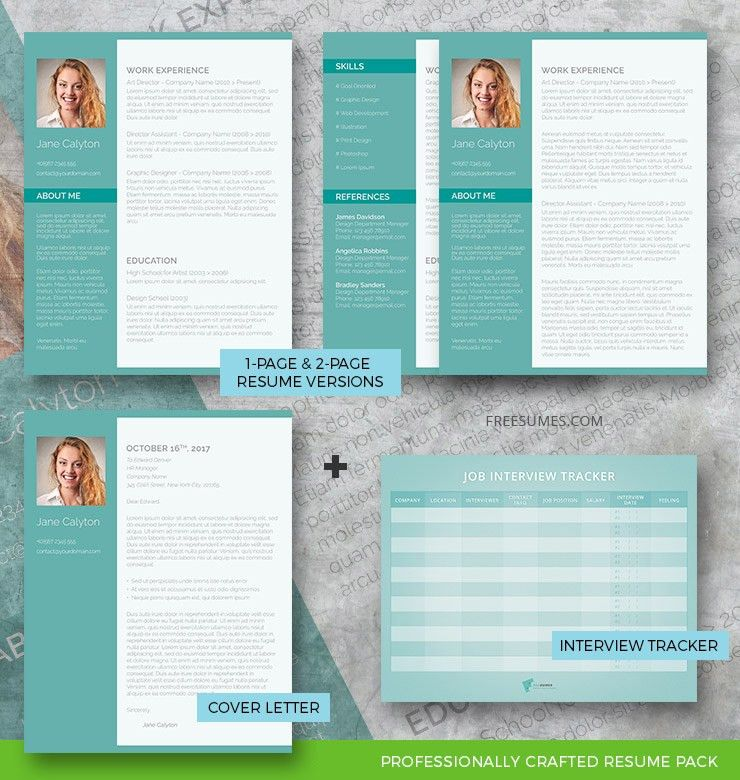 Classy Emerald Complete Resume Pack