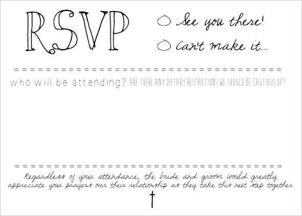 RSVP postcard inserts. DIY on Microsoft Word. : wedding diy ...