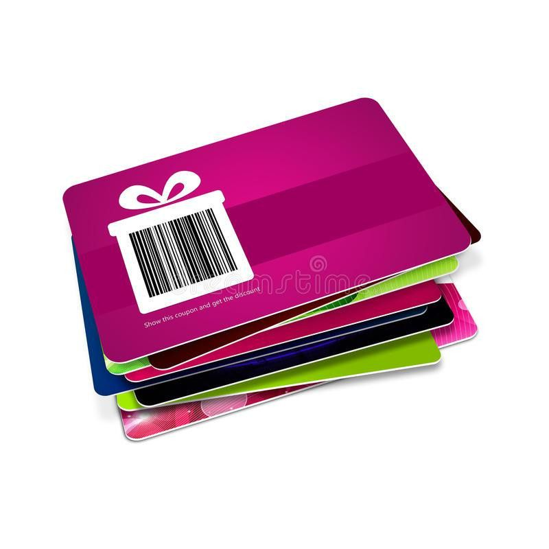 Discount Vouchers With Bar Code Isolated Over White Stock ...