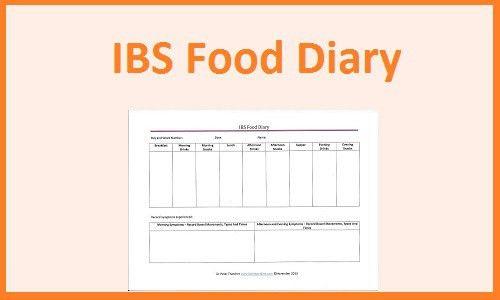 IBS Food Diary Download - Template Printable!