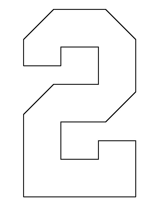 Number 4 pattern. Use the printable outline for crafts, creating ...