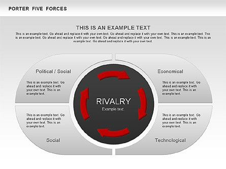 Porter's Five Forces Segments Diagram for PowerPoint Presentations ...