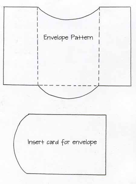 envelope and card insert template | Paper Crafts | Pinterest ...
