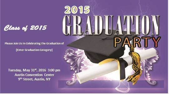 Graduation Ceremony Invitation Template | Formal Word Templates