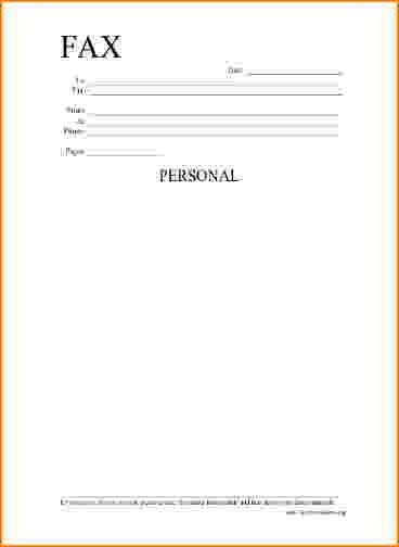 8+ fax cover sheet doc | bibliography format