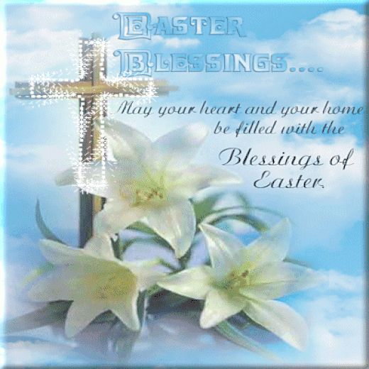 Animated Easter Blessings religious easter cross blessing graphic ...