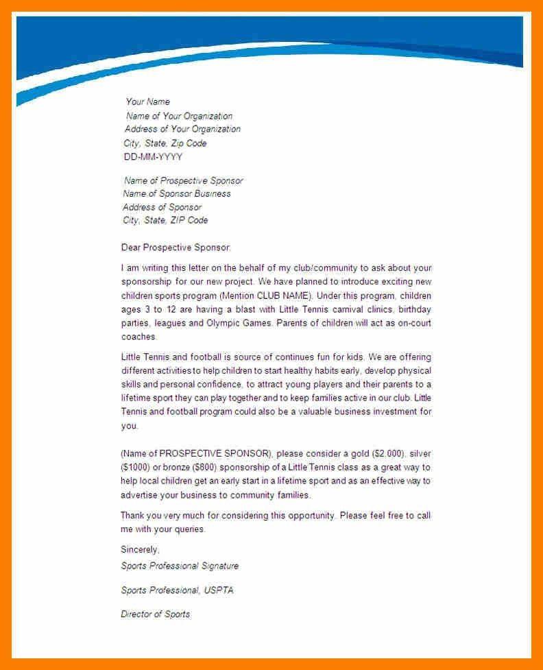 Sponsorship Letters. 40+ Sponsorship Letter & Sponsorship Proposal ...