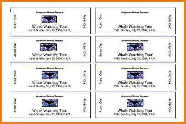 4 Event Ticket Template Free | Receipt Templates