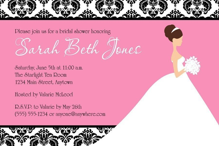 Free Printable Bridal Shower Invitations Cards - Festival-tech.Com