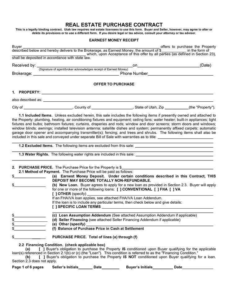 Real Estate Purchase Agreement Template. Purchase Agreement ...