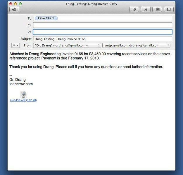 invoice email sample | Free Invoice