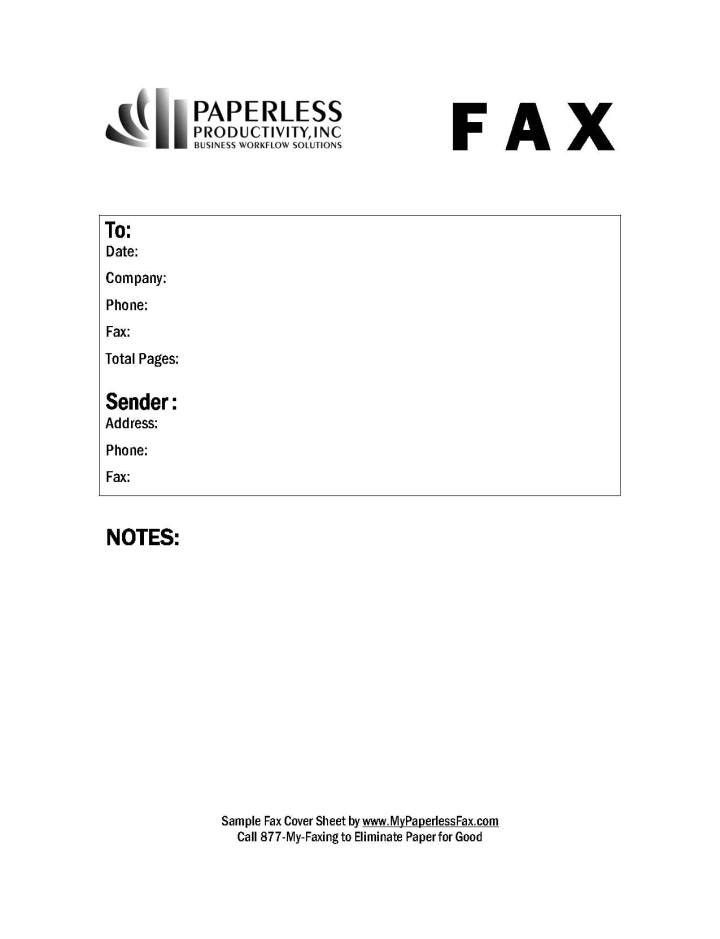 word fax template 2007