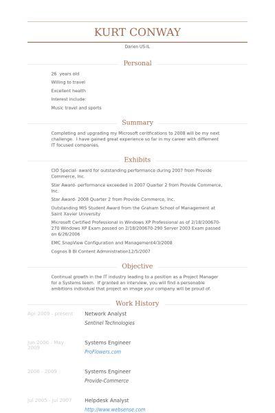 Network Analyst Resume samples - VisualCV resume samples database