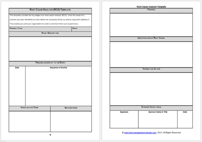 Root Cause Analysis Templates - 8 Docs for (Word, Excel ...
