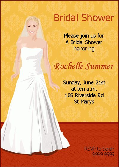 Custom Bridal Shower Invitation Samples