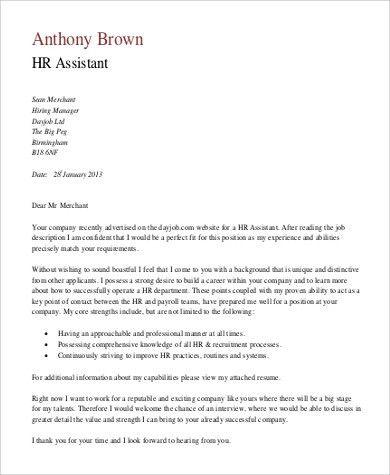 cover letter internship hr department. hr analyst cover letter ...