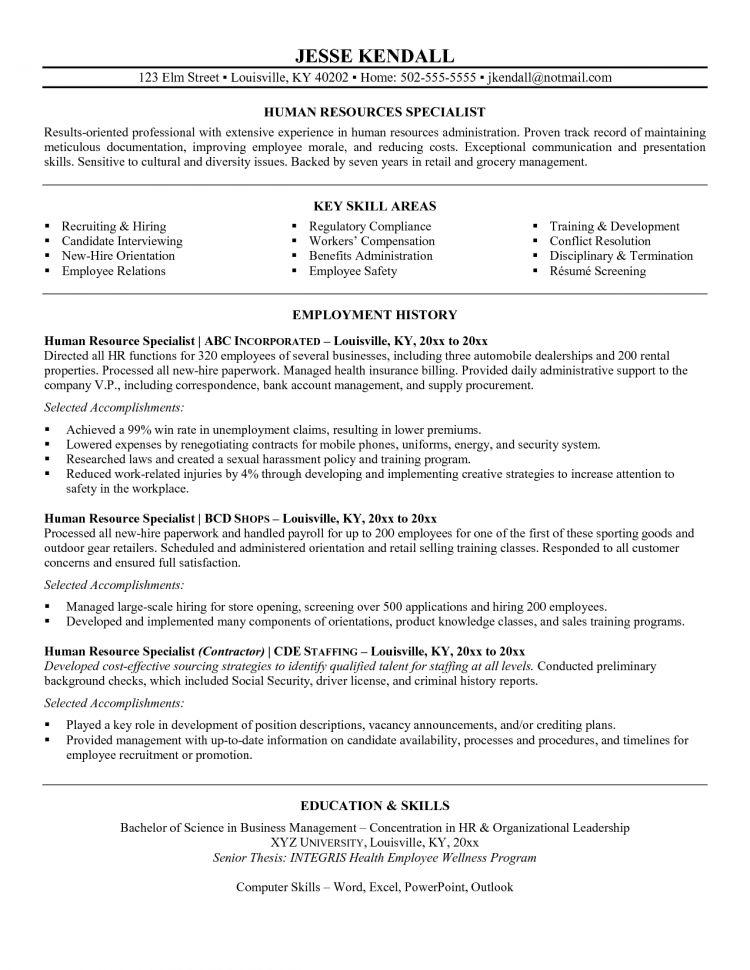 telecommunication specialist resume