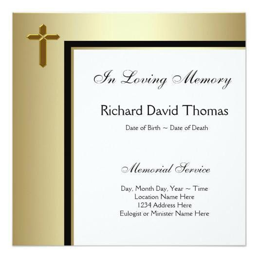 mans funeral announcement wording – Invitations 4 U