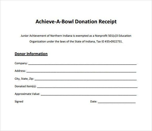 Donation Receipt Templates | Print Paper Templates