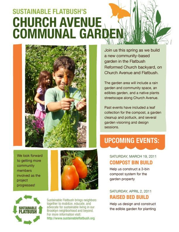 Event Programs & Flyers | Sustainable Flatbush