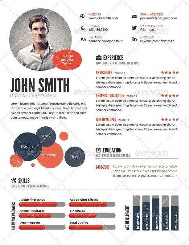 Top 5 Infographic Resume Templates …   Pinteres…