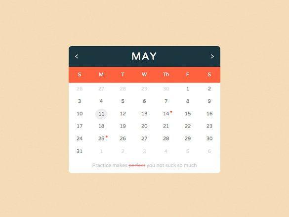 26+ HTML Calendar Templates – Free HTML, PSD, CSS Format Download ...