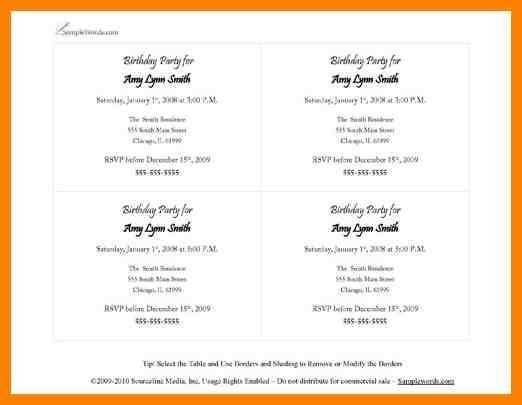 10+ party invite template word | sales resumed