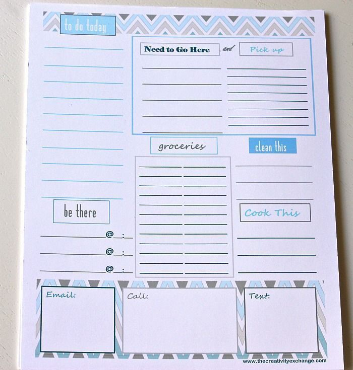 221 best Free Printable To Do Lists & Lists images on Pinterest ...