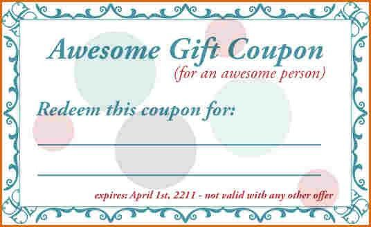 7+ free coupon template | Authorizationletters.org