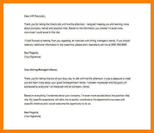 Recruiter Thank You Letter Sample. Thank You Letter To Recruiter ...
