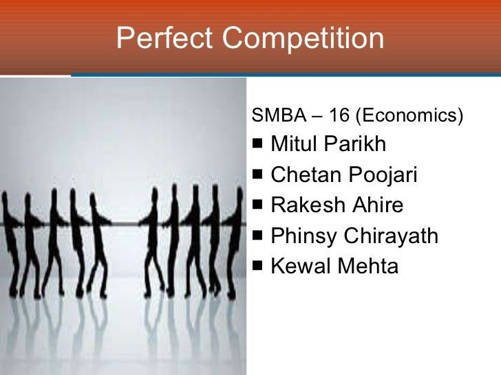 Managerial Economics - Perfect Competition