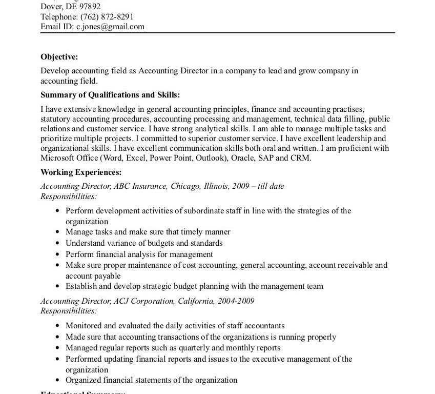 Awesome Idea Great Objectives For Resumes 8 Examples Of A ...
