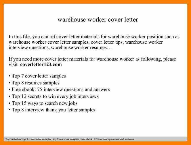 9+ cover letter for warehouse worker | hostess resume