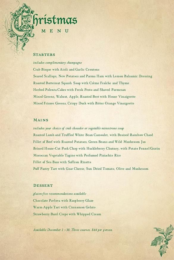 Christmas Menu Templates | Download Free & Premium Templates ...