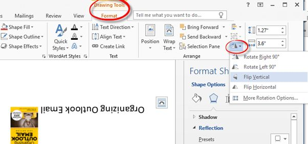 Reverse, Mirror or Flip Text in Word - many different ways ...