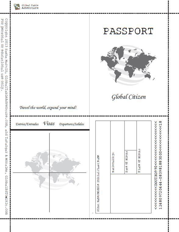 The 25+ best Passport template ideas on Pinterest | International ...