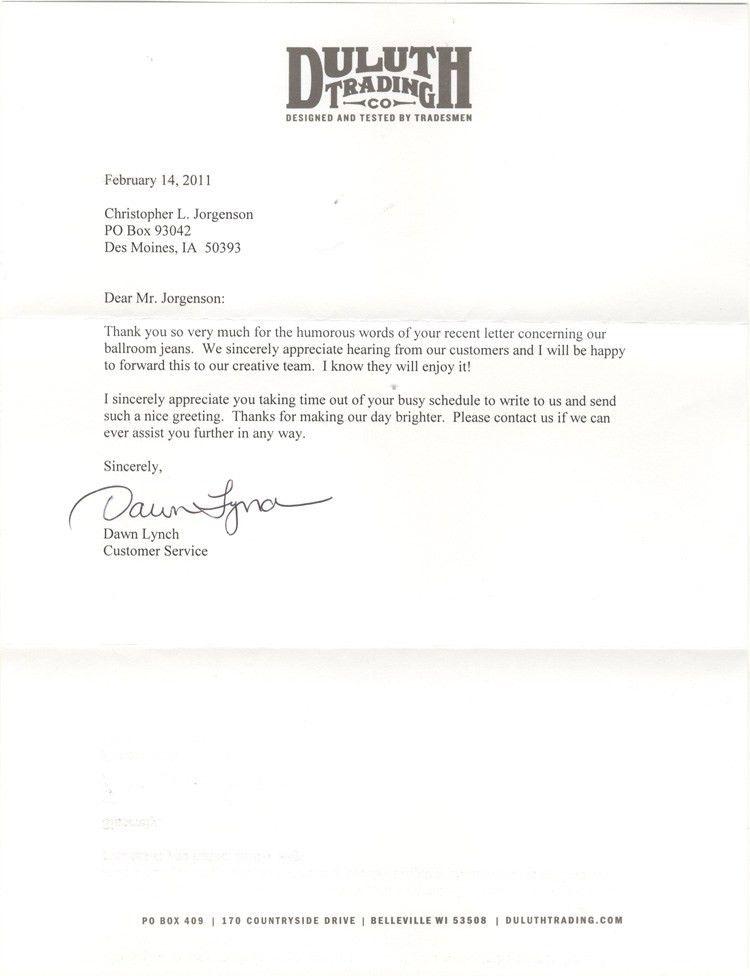 Jackass Letters: Dear Duluth Trading Company