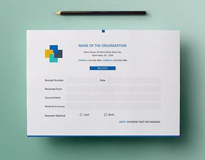 Free Simple A5 Landscape Invoice / Money Receipt Design on Behance