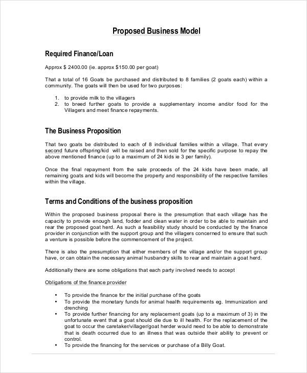 Business Proposal - Free PDF, Word, PSD Documents Download | Free ...