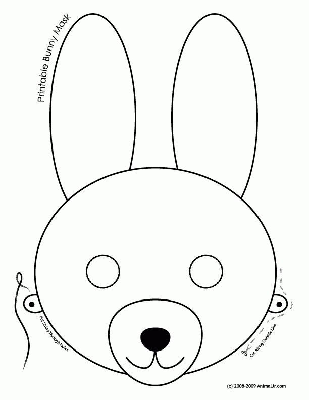 Printable Easter Bunny and Baby Chick Masks - Woo! Jr. Kids Activities