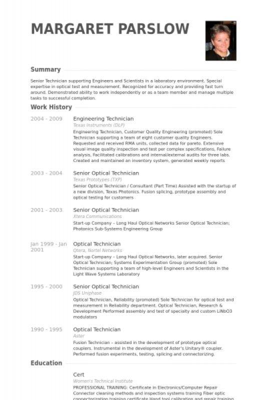 Instrument Technician Resume – Resume Examples