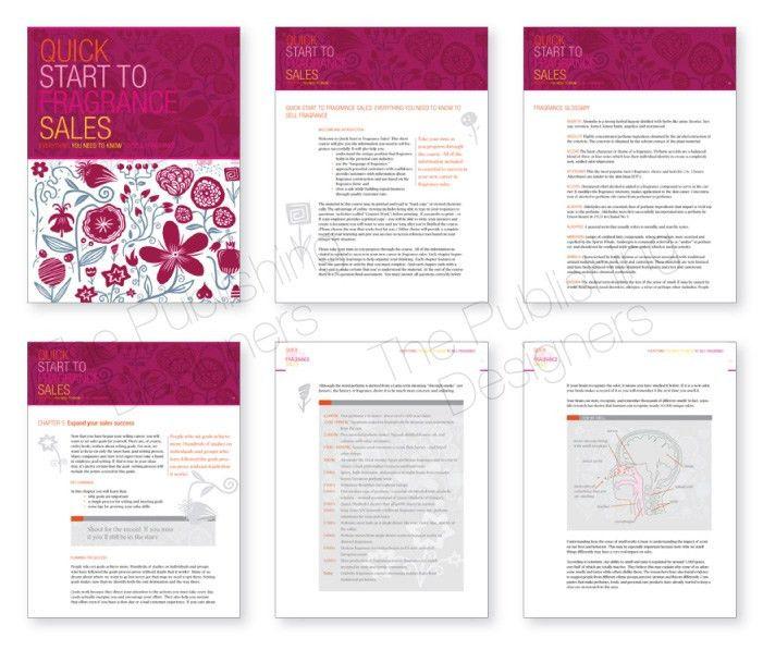 Fragrance Sales workbook design - The Publishing Designers