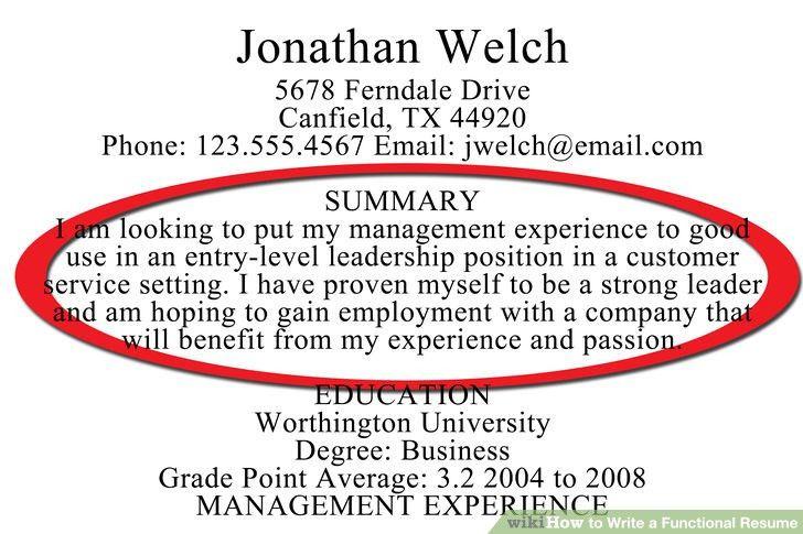 Download Writing A Resume Summary | haadyaooverbayresort.com
