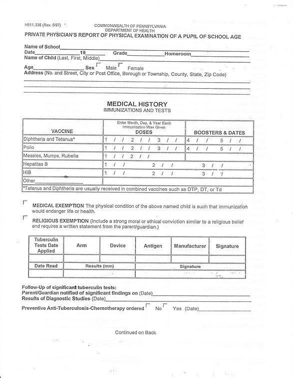 School Medical Form. Medical-Form Forms | Scott County High School ...